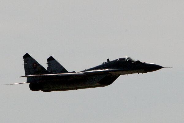 MiG-29 vyštartoval zo Sliača.