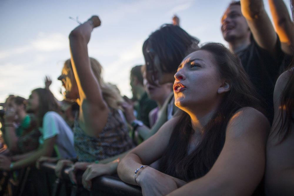Atmosféra počas koncertu.