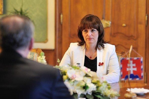 Predsedníčka Úradu pre verejné obstarávanie Zita Táborská u prezidenta Andreja Kisku.