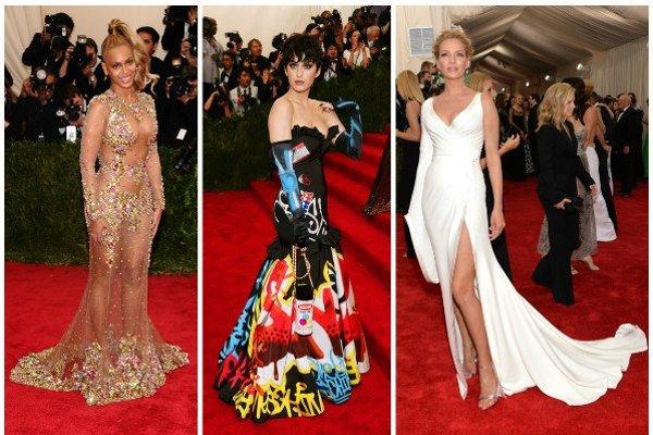 Zľava: Beoyncé, Katy Perry, Uma Thurman