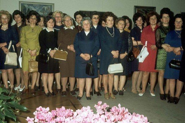 Prijatie delegácie žien pri príležitosti MDŽna Pražskom hrade, 7. 3. 1975.
