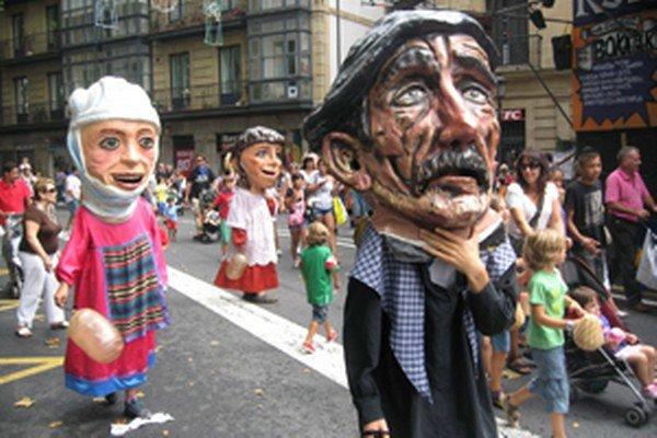 Fiesta v uliciach Bilbaa.