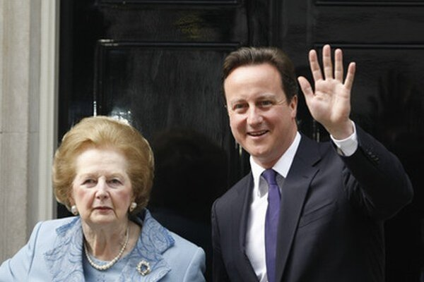 Margret Thatcherová a David Cameron.