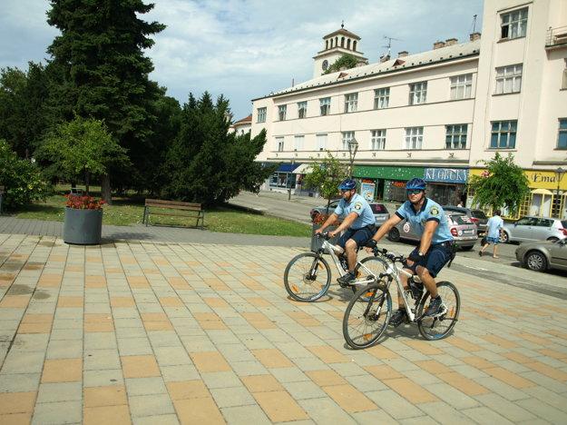 Cyklohliadka Mestskej polície v Trnave.