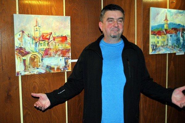 Vlado Šipoš. Pozitívne naladený maliar má blízky vzťah k svojmu mestu. Obrazy sú jeho výpoveďou.