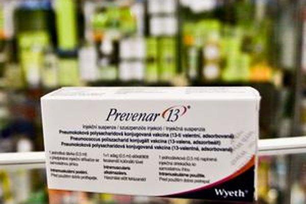 Za jednu vakcínu proti pneumokokom Prevenar si od zajtra priplatíte asi 12 eur.