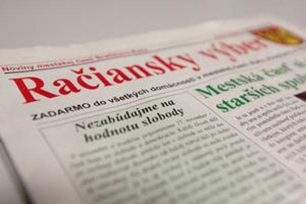 Račiansky výber dáva na titulke slovo starostovi Jánovi Zvonárovi aj zástupcovi Rafaelovi Rafajovi.