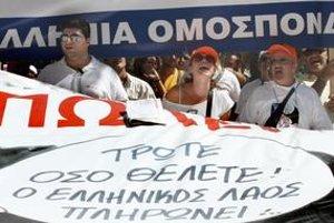 Gréci včera znovu štrajkovali proti uťahovaniu opaskov, ich vláda však nemá na výber. Riskovala by krach krajiny.