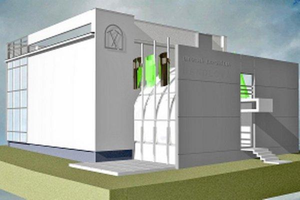 Vizualizácia Banského múzea v Handlovej.