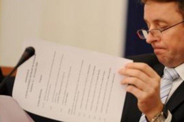 Ivan Mikloš na konferencii o vstupe Slovenskej republiky do eurozóny.