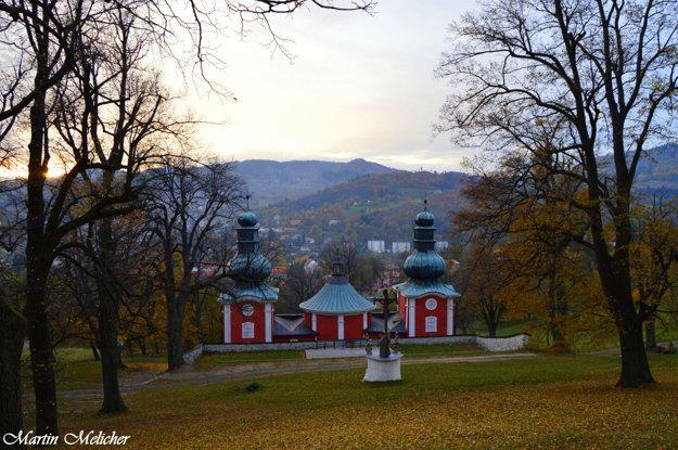 Jesenná kalvária v Banskej Štiavnici.