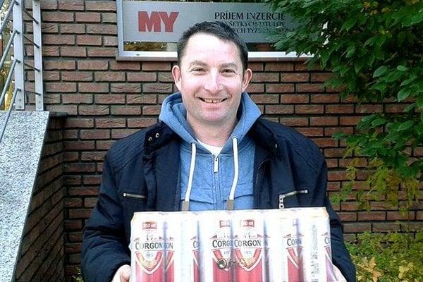 V 12. kole si kartón piva Corgoň rozdelili Marian Piterka zo Svätoplukova (na snímke) a Pavol Bradáč z Golianova.