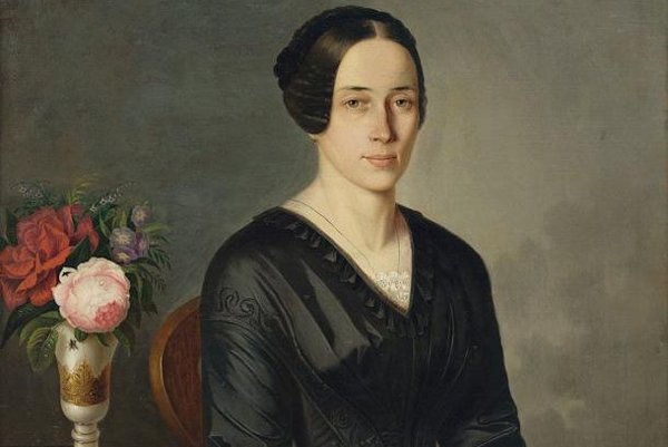 Umelcova manželka Žofia.