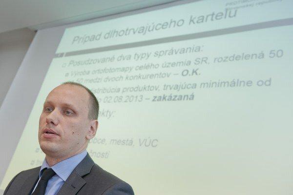 Riaditeľ odboru kartelov PMÚ SR Peter Demčák.