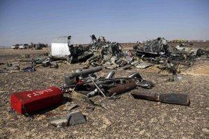Trosky zrúteného ruského lietadla.