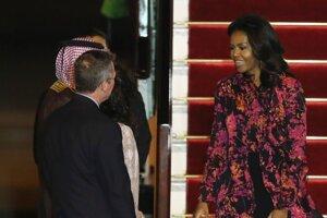 Michelle Obamová pricestovala do Kataru.