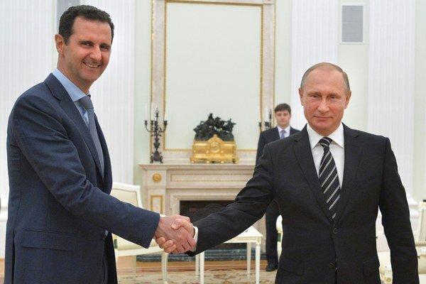 Bašar Asad s ruským prezidentom Vladimirom Putinom.