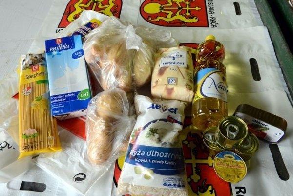 Potravinový balíček.