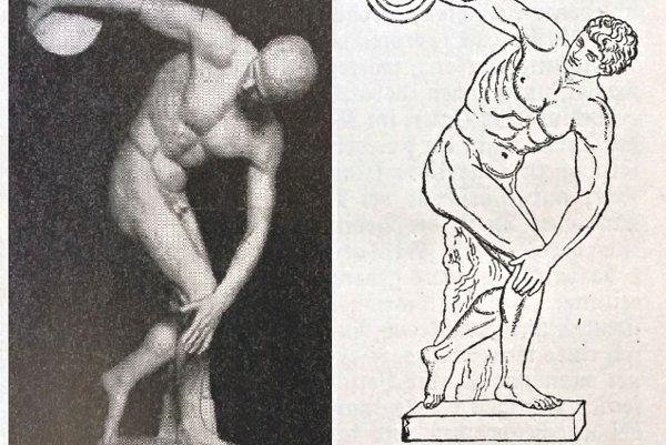 Obľúbeným starovekým športom bol i hod diskom (socha Diskobola od Myróna).