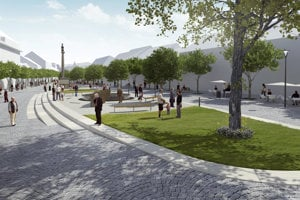 Takto by malo Mierové námestie vyzerať na konci budúceho roka.