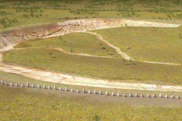 Superhenge mal v priemere 5OO metrov, tvorili ho drevené stĺpy.