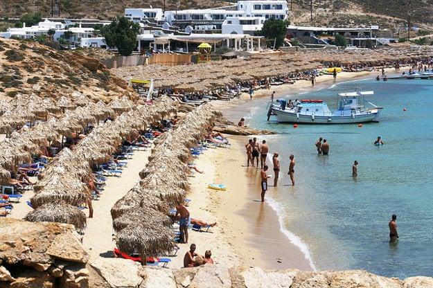 Pláž Elia, Mykonos.