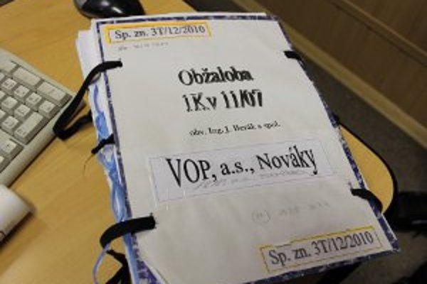 Obžalovací spis v prípade výbuchu vo VOP Nováky.