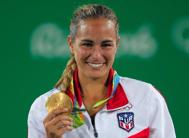 Monica Puigová spala s medailou na nočnom stolíku.