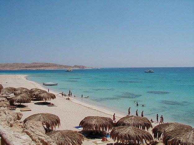 Hurghada, pobrežie.