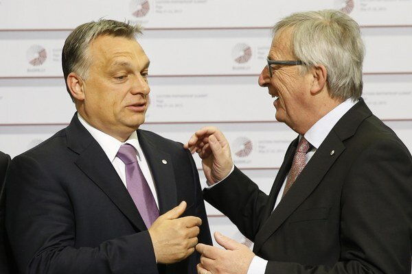 Viktor Orbán a Jean-Claude Juncker.