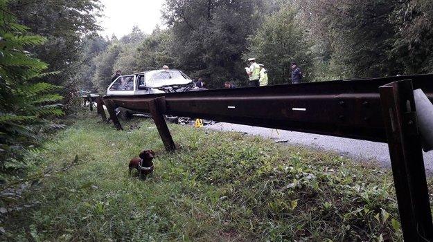 Vyšetrovanie na mieste nehody.