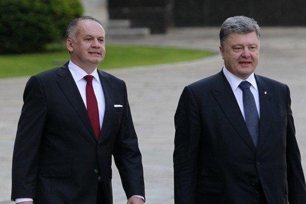 Andrej Kiska a Peter Porošenko.