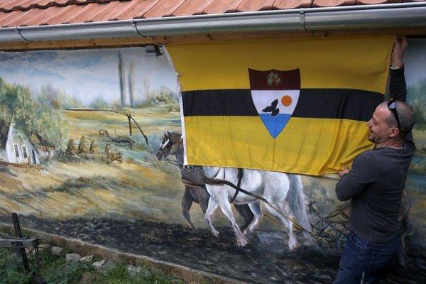 Vlajka samozvaného Liberlandu.