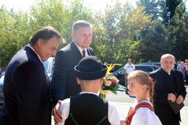 Dalibor Surkoš a Robert Fico na výjazdovom rokovaní vlády.