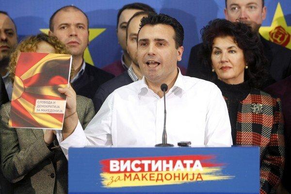 Líder opozície v Macedónsku Zoran Zaev.