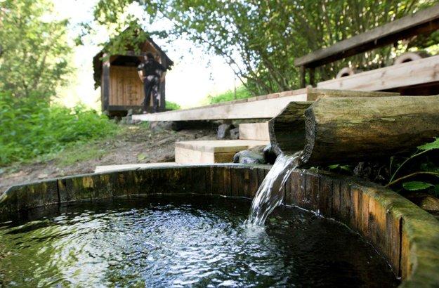 Nové prvky pribudli aj pri saune Kunstdorf.