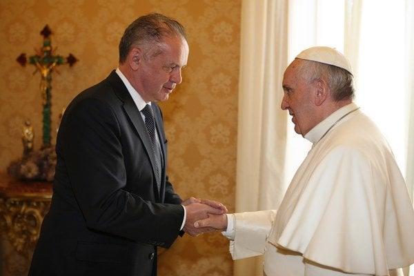 Pápež František prijal prezidenta Kisku.