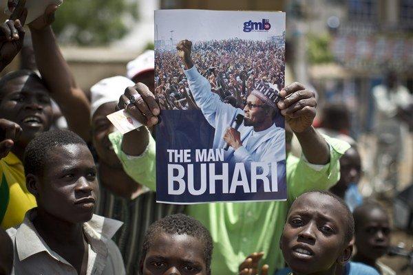 Buhariho podporovatelia.