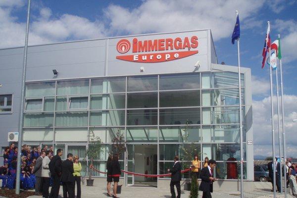 Popradský závod Immergas pri otvorení v roku 2008.