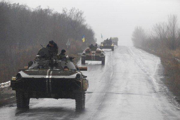 UKrajinské bojové vozidlá.