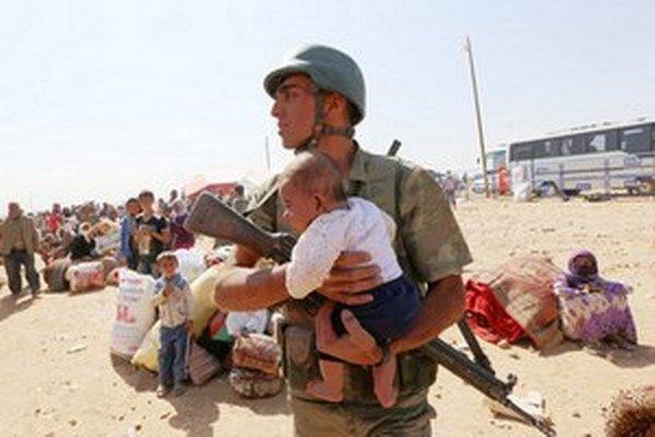 Utečenci z Kobane.