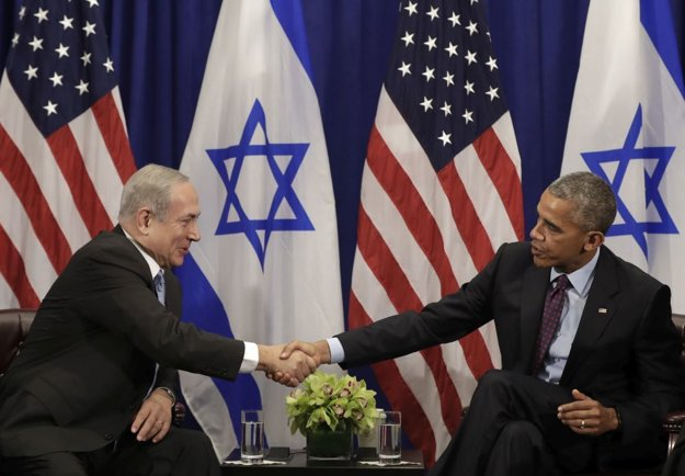 Izraelský premiér Benjamin Netanjahu (vľavo) a americký prezident Barack Obama (vpravo).