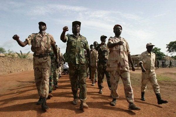 Rebeli v Stredoafrickej republike.