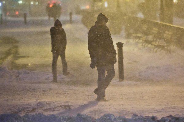 Zima v Brooklyne.