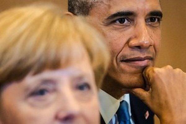 Angela Merkelová a Barack Obama.