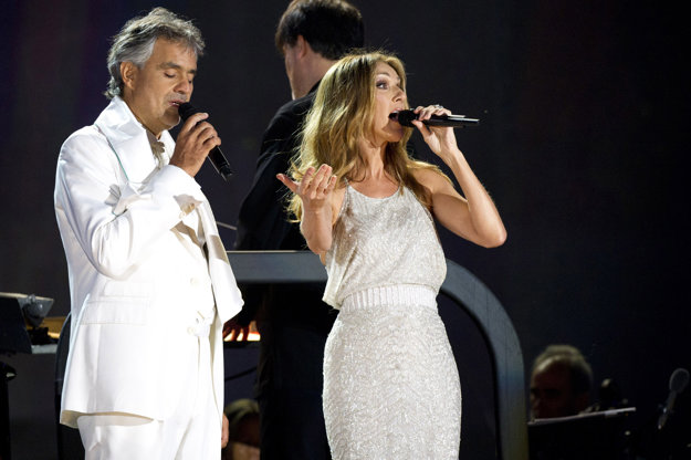 Celine Dion a Andrea Bocelli