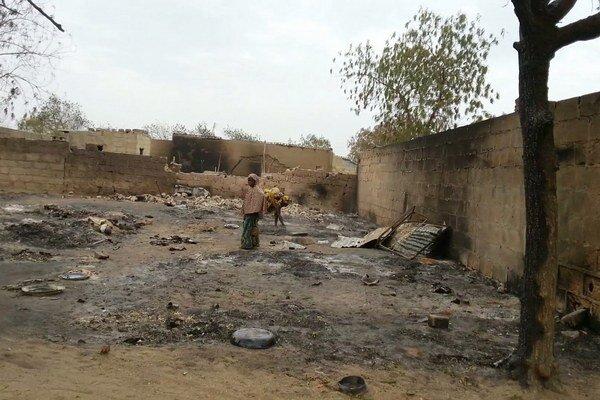 Mesto Baga, ktoré minulý týždeň militanti z Boko Haram vyvraždili.