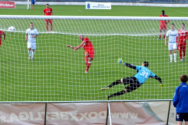 Najväčšia šanca FC VSS Košice. Mali ju vprvom polčase, keď Kubík zpenalty netrafil bránu.