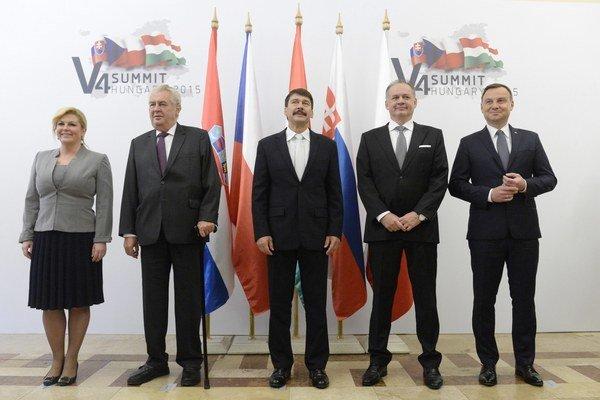 Summit prezidentov Vyšehradskej štvorky v Balatonfürede.