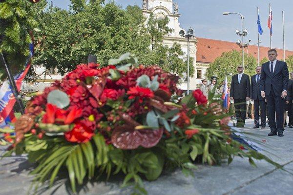 Spomienkový pietny akt pri príležitosti 71. výročia Slovenského národného povstania.